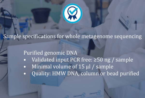 Sample delivery WMS 600x403 Product page   Whole Metagenome Sequencing